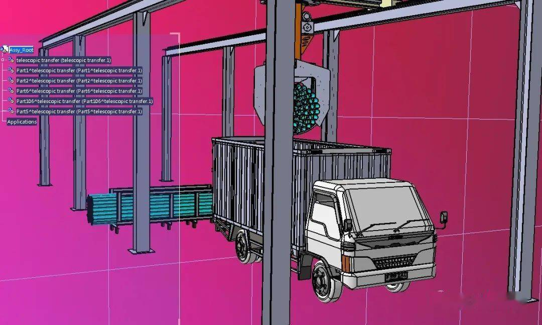 cad卡车装载平面图