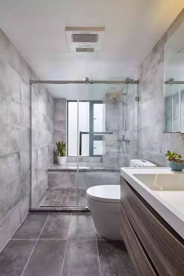 简洁质朴的简约装修,太喜欢卫生间的设计了,淋浴房还能坐着