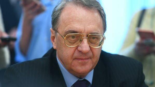 俄罗斯外交部副部长博格丹诺夫与叙利亚东部当局外长胡韦杰举行会晤