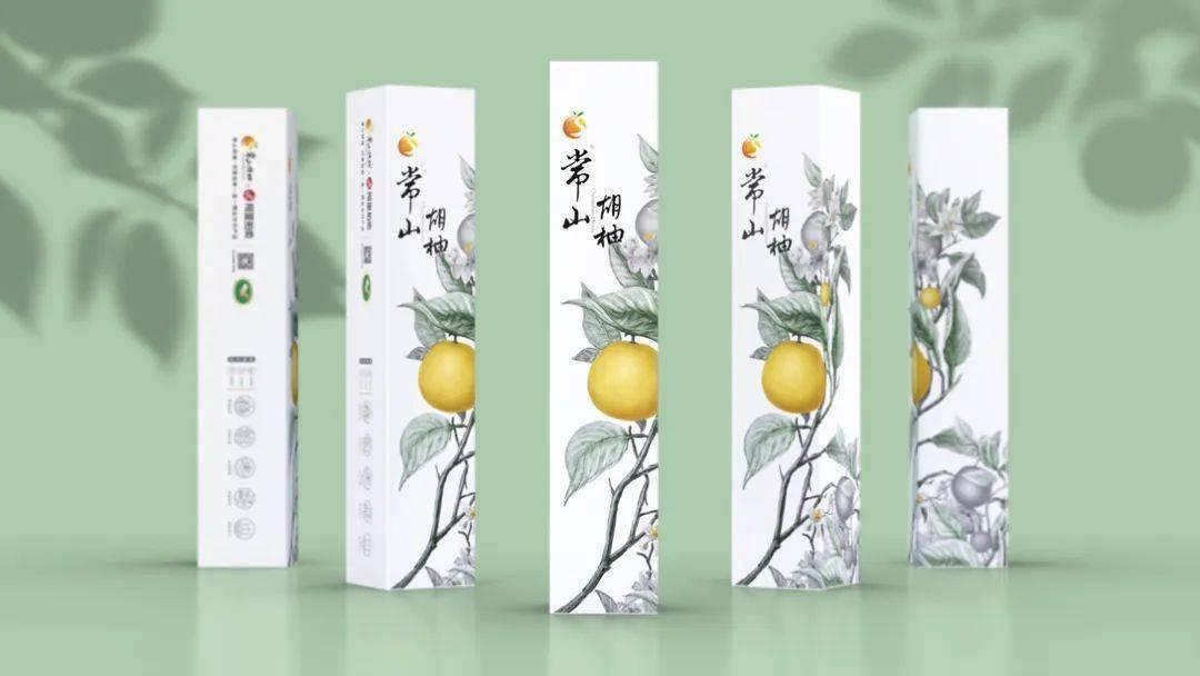 水墨画风格的水果包装设计,有点意思呀!