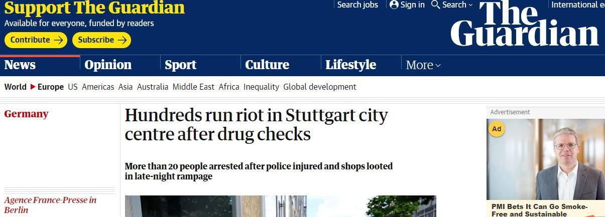 德国城市深夜爆发骚乱:因警察查缉毒品,数百人砸警车、打砸商铺......_德国新闻_德国中文网