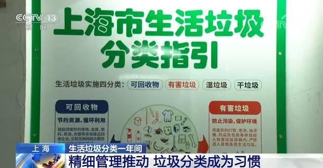 上海生活垃圾分类一年间新时尚改变一座城