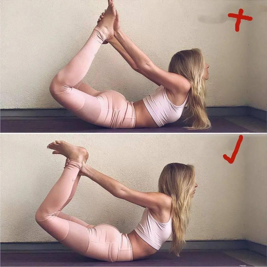 14个最常做错的瑜伽体式正误对比图,你做对了几个? 初级健身 第5张