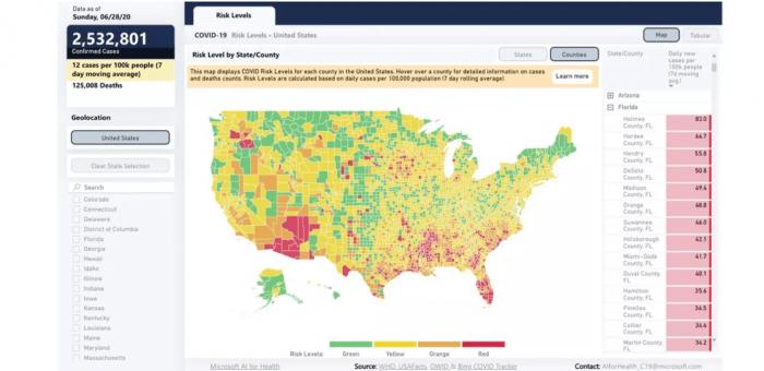 哈佛开发新冠肺炎风险地图:让用户更容易掌握当地疫情图片