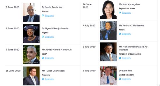 八位WTO总干事候选人出炉,谁的赢面最大?