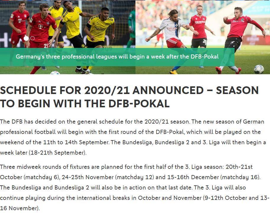 德甲新赛季将于9月18日启程 冬歇期缩至11天_德国新闻_德国中文网