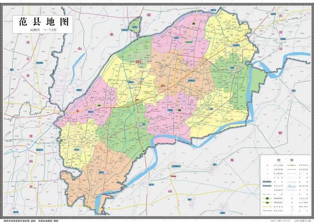 【最新】11幅最新版濮阳五县一区标准地图发布!清丰人图片