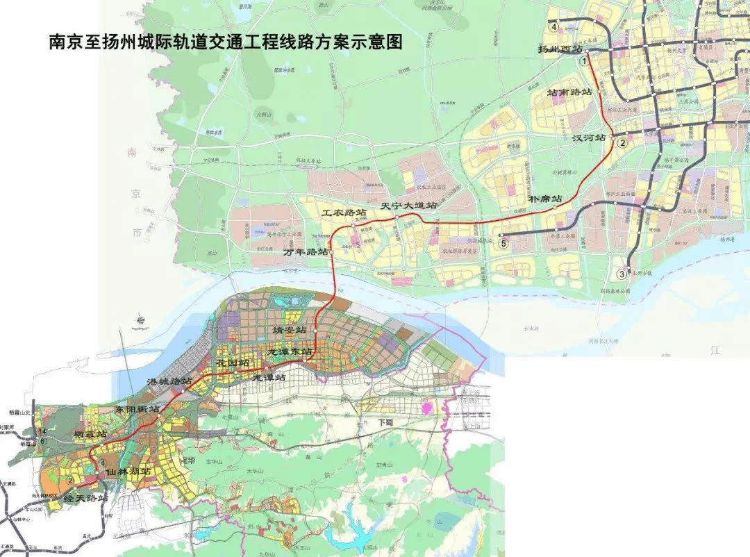 2020年扬州地铁规划图
