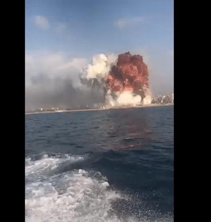 快讯!贝鲁特爆炸事故已致至少6人遇难,爆炸系由鞭炮仓库大火引起