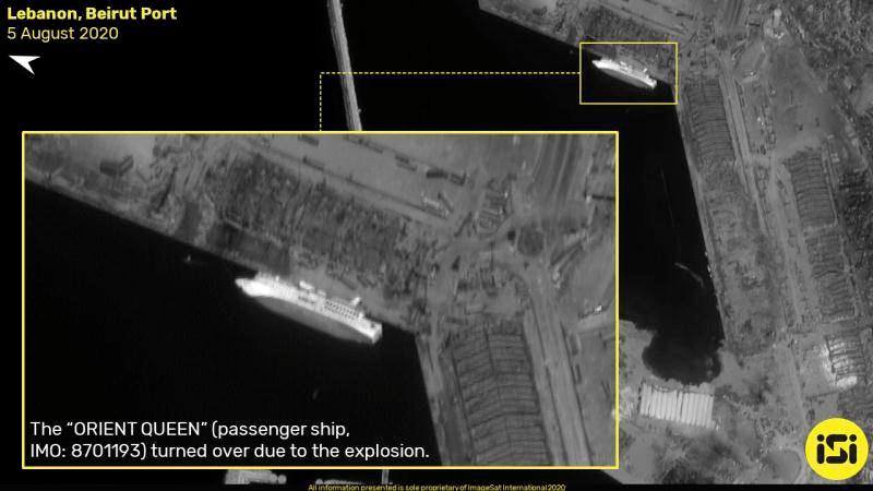 黎巴嫩|触目惊心:黎巴嫩首都大爆炸前后卫星图对比