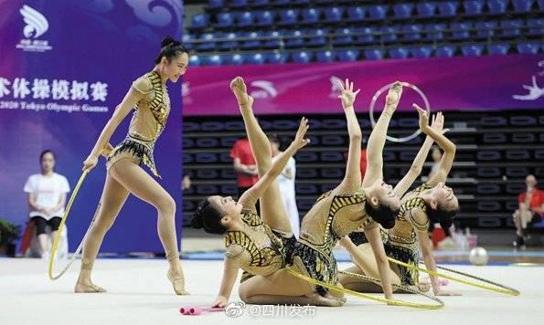 中国艺术体操队在川模拟东京奥运会