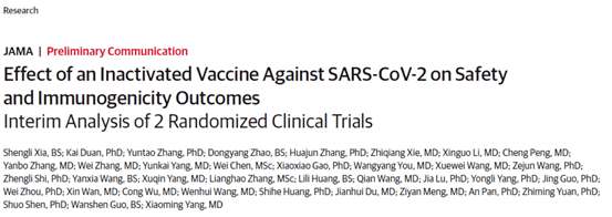 全球首个新冠灭活疫苗Ⅰ/Ⅱ期临床试验中期结果公布
