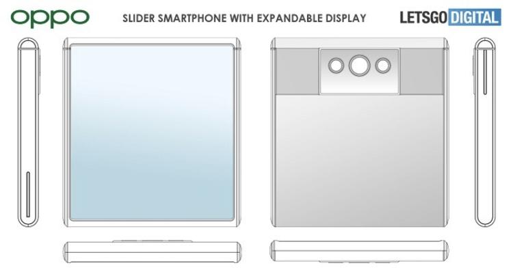 OPPO 拉伸屏设计专利曝光:手机显示面积可增加 80%