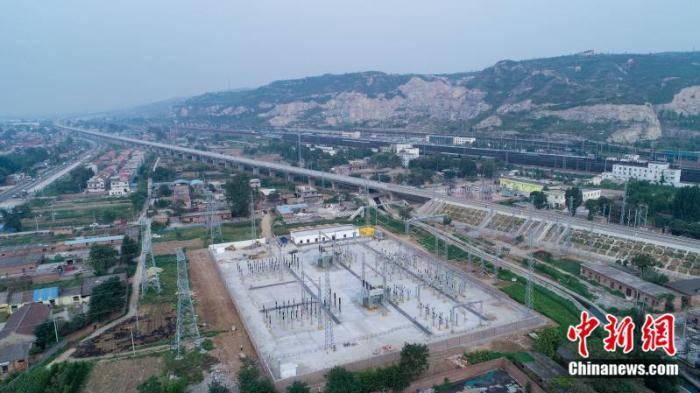 太焦高铁河南段接触网送电成功 将进入联调联试图片