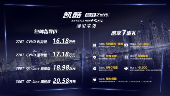 东风悦达起亚凯酷正式上市,包牌价16.18万起