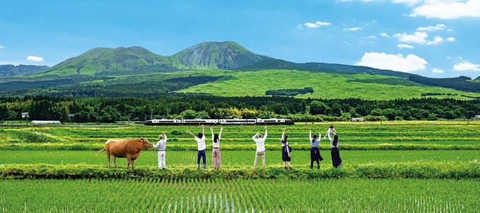 熊本-阿苏之间的铁路线路已经恢复, 到阿苏观光更方便啦