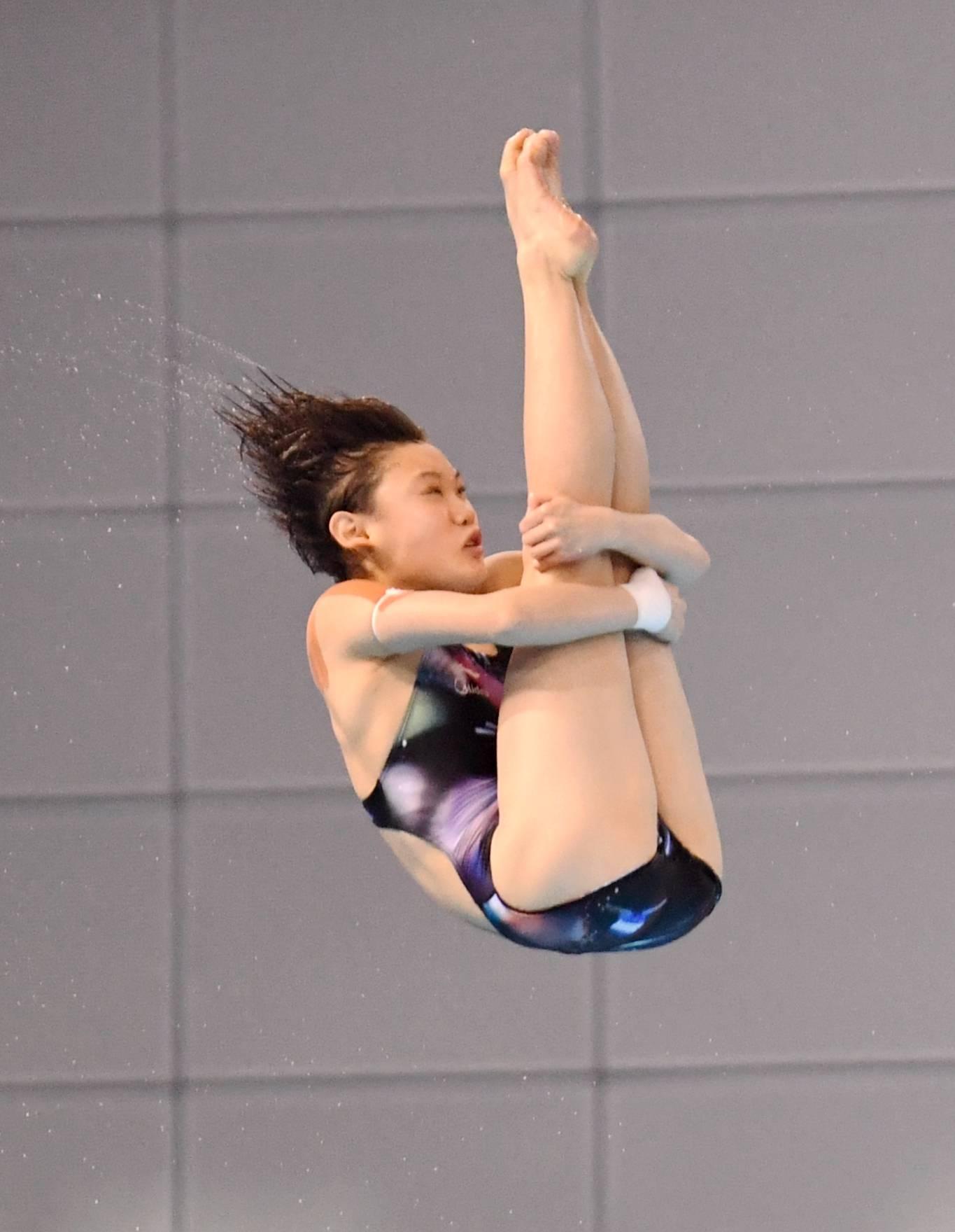 跳水——全国冠军赛:女子十米跳台预赛赛况