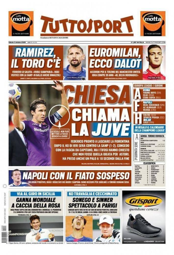 10月3日意大利媒体消息,小基耶萨挨近加盟尤