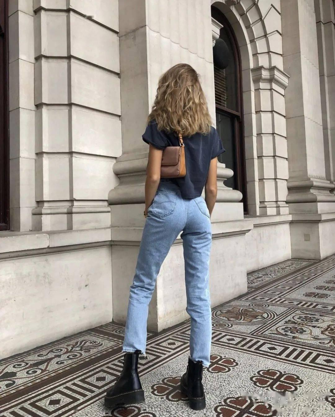 马丁靴+裙子,马丁靴+工装裤……又酷又撩,时髦炸了!     第39张