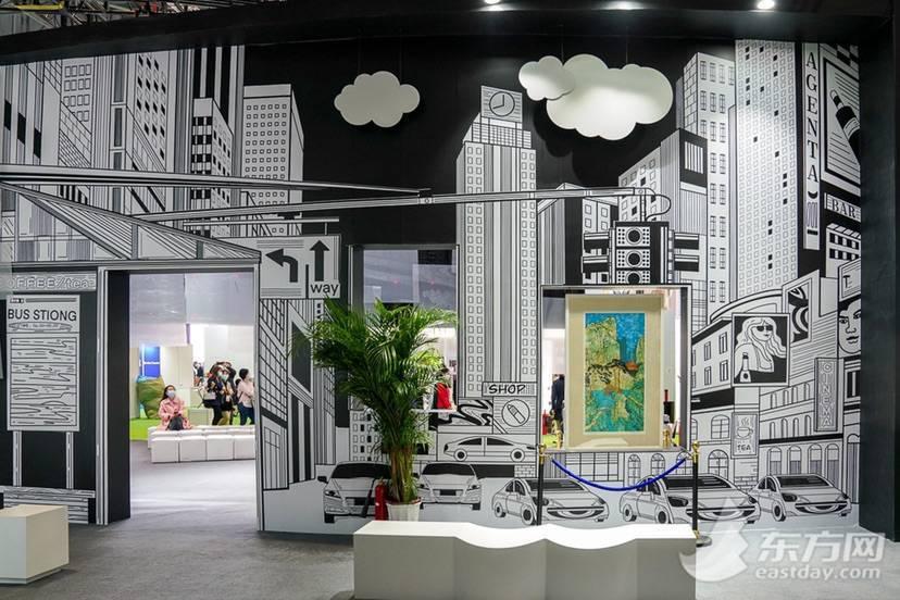 第三届进博会上,300平方米的开放式艺术空间