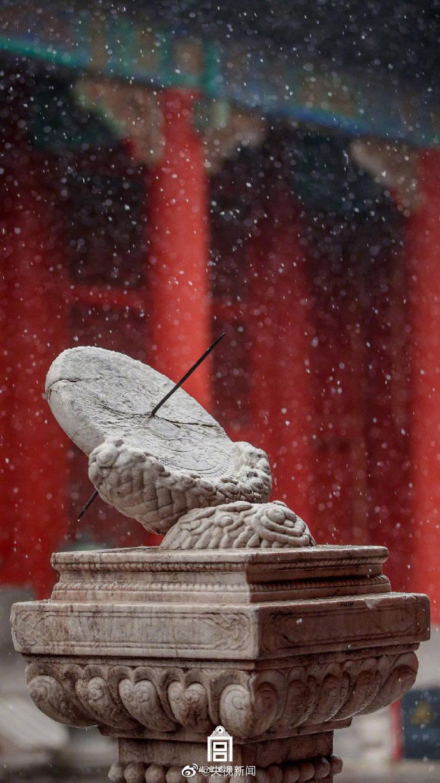 太美了!故宫的雪