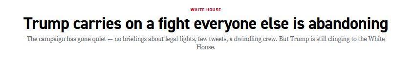 美媒:特朗普独自苦撑,身边的所有人正在放弃
