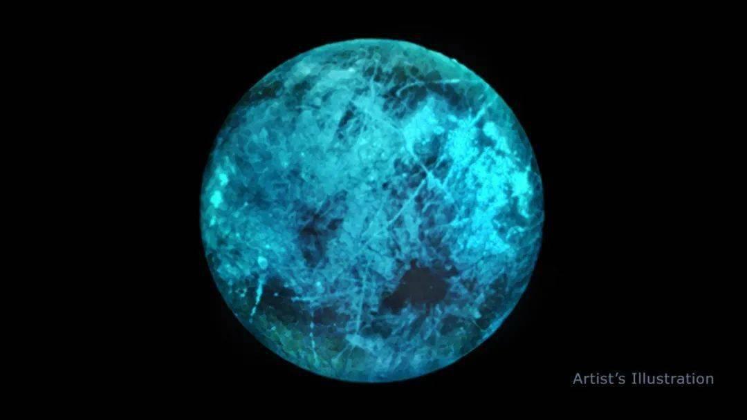 """无情的辐射冲击使得木卫二的""""夜晚""""闪闪发光"""