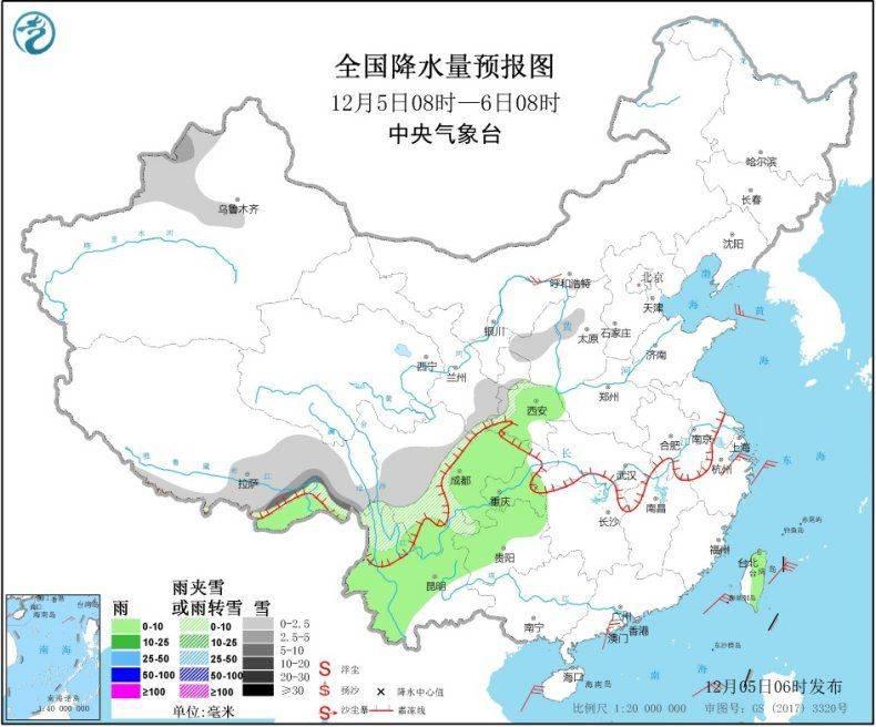 西南地区和长江中下游多阴雨 华北中南部等地有霾