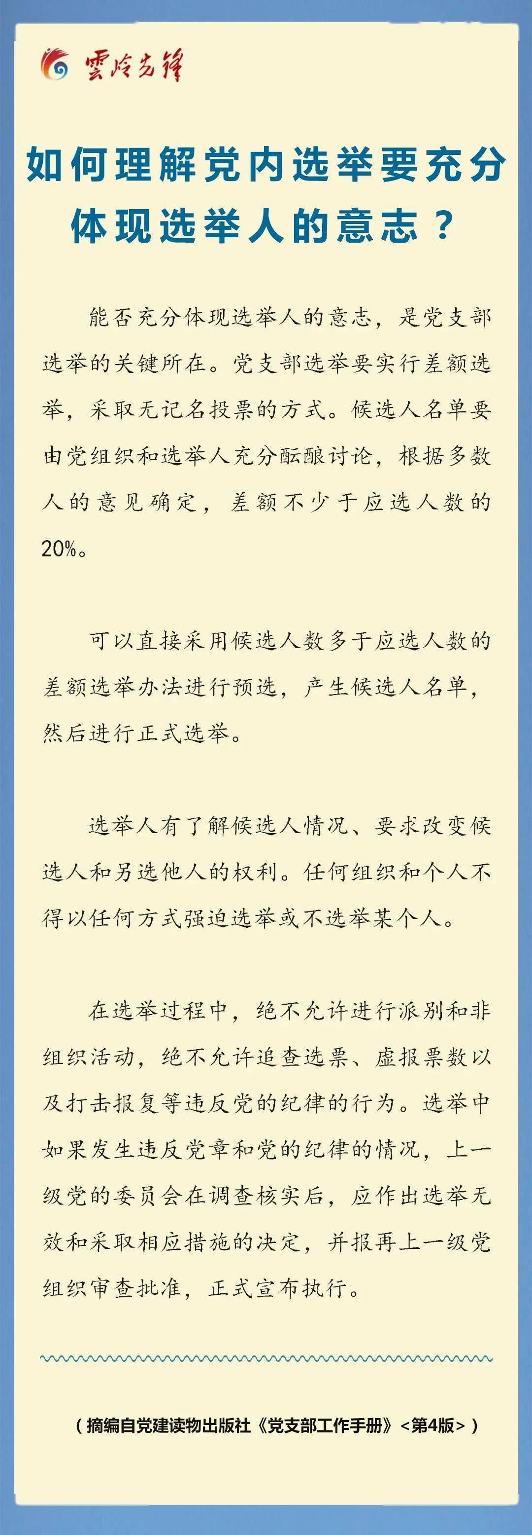 """【先锋课堂】如何明白党内选举要充实体现选举人的意志?""""e星体育app""""(图1)"""
