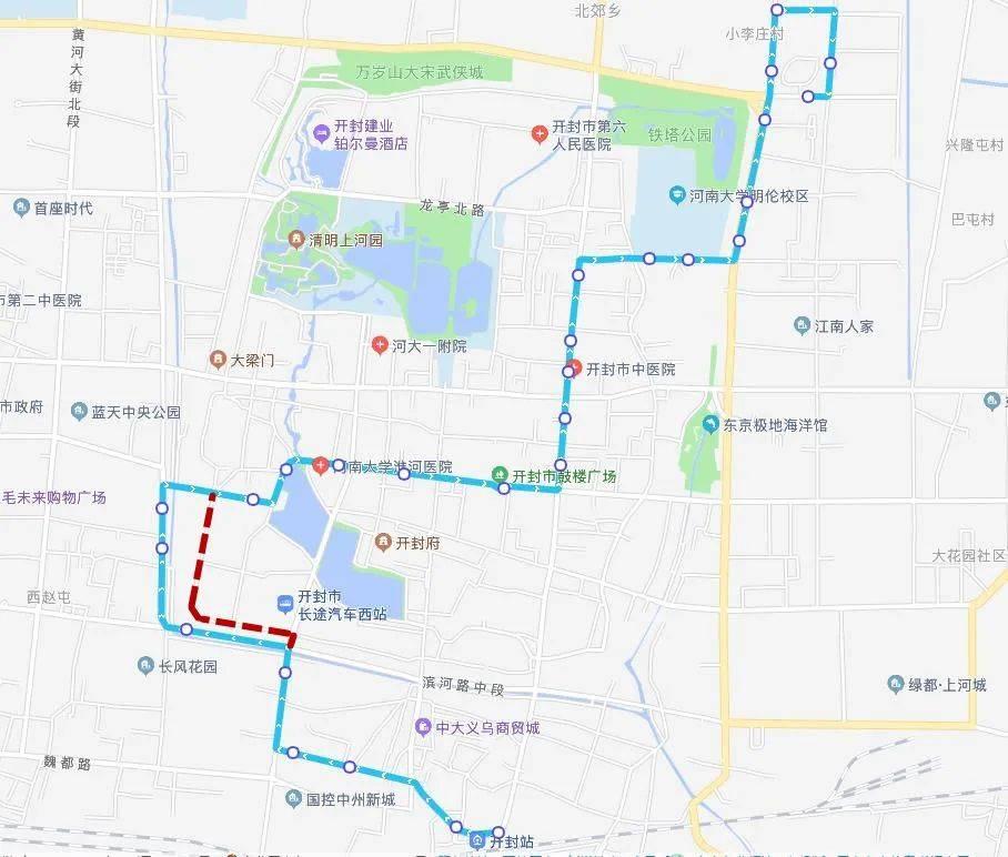 1月6日起,开封3条公交线路临时调整
