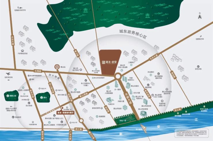 位居政芯之上,港龙君望以一席低密高端之作致献全城