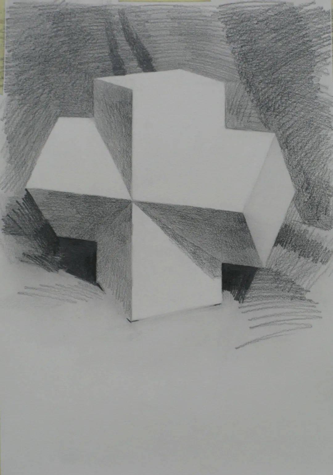 几何体组合体素描图片