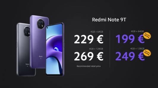 Redmi Note 9T发布:5000mAh大电池,199欧元起