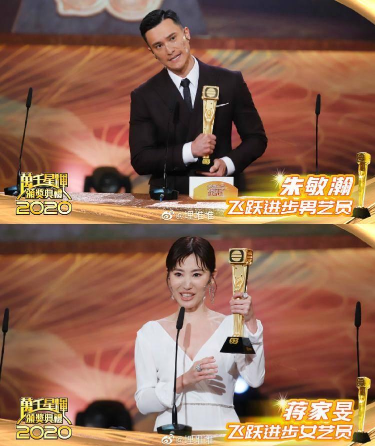 """TVB首位90后""""视后""""诞生!蔡思贝王浩信分获2020TVB""""视帝""""""""视后"""""""