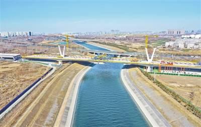 郑州西南跨南水北调特大桥合龙