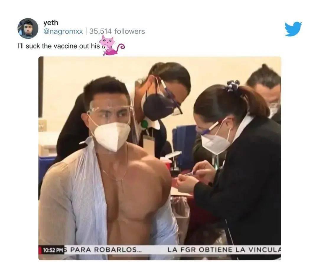 肌肉医生接种新冠疫苗,爆红网络引发舔屏,网友都在馋他的身子....