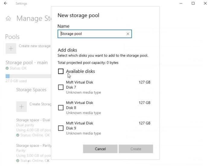 微软正重新设计Win10控制面板功能:全新存储空间
