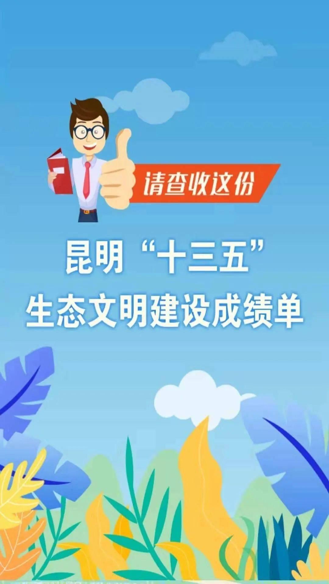 """互动新闻丨昆明市""""十三五""""生态文明建设成绩单来啦"""