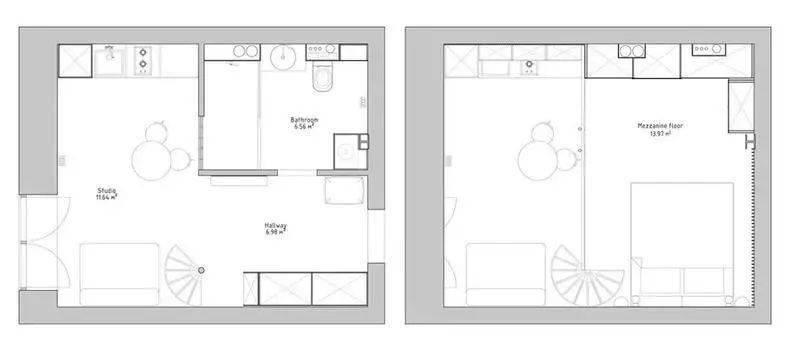 35平时尚loft单身公寓,设计简约却不简单,让家更宽敞大气!