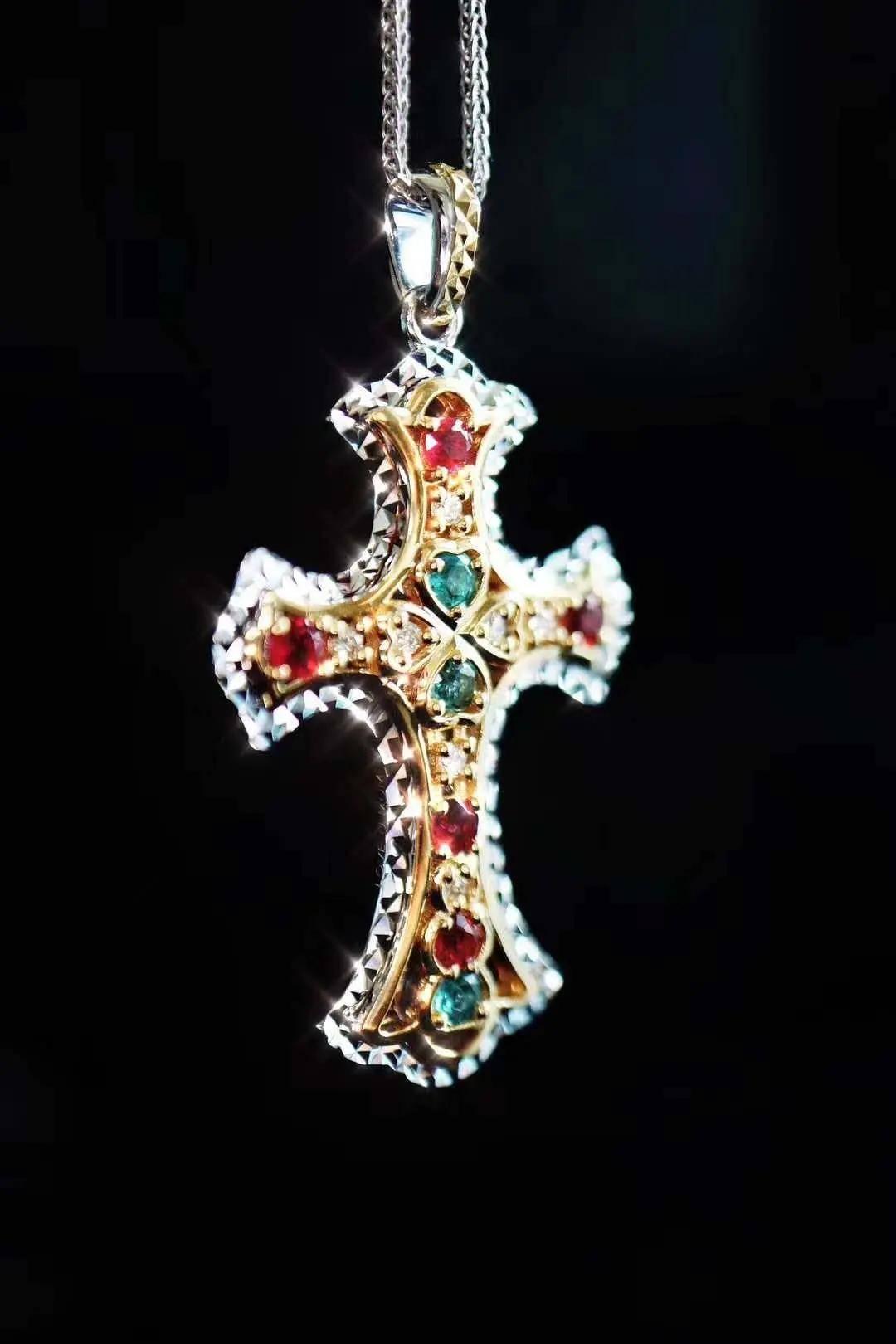 碧玺十字架吊坠,注重精神世界的看过来!