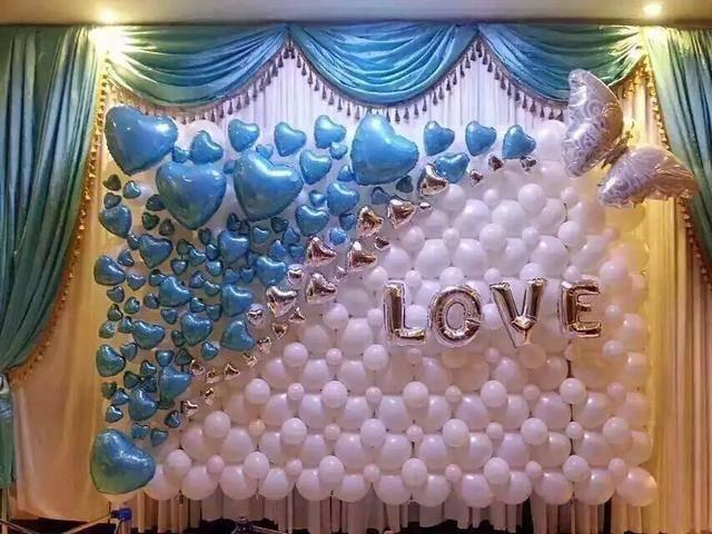 婚房設計氣球,2020氣球布置婚房的圖片