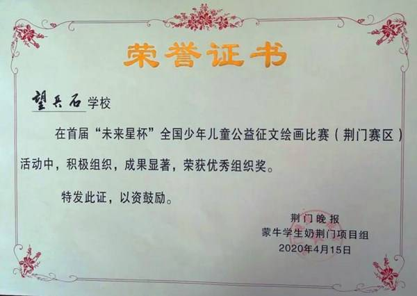 湖北荆门望兵石学子绘画比赛喜获佳绩