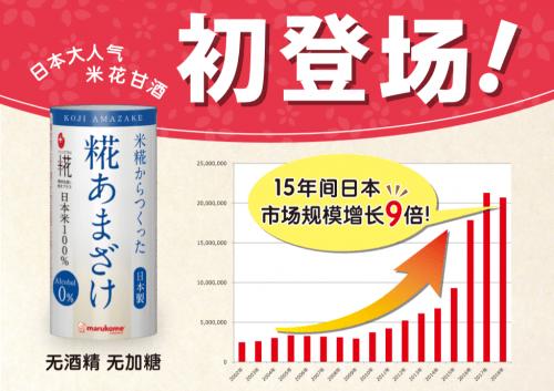 丸米公司旗下「米花甘酒」正式进入中国市场