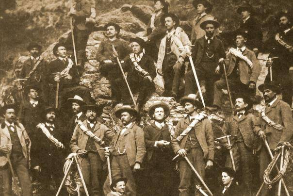 登山队员合照
