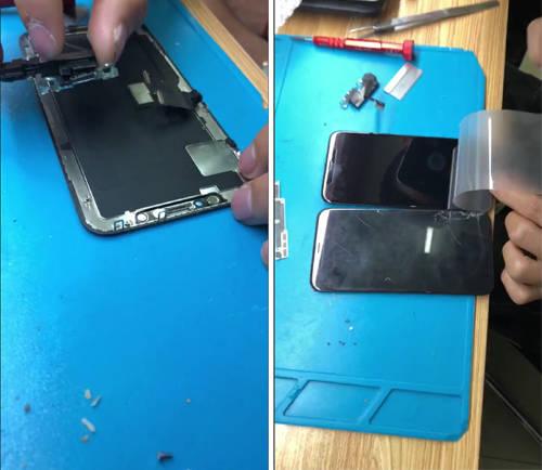 iphonex内屏坏了多少钱(苹果x绿色线条有救了)