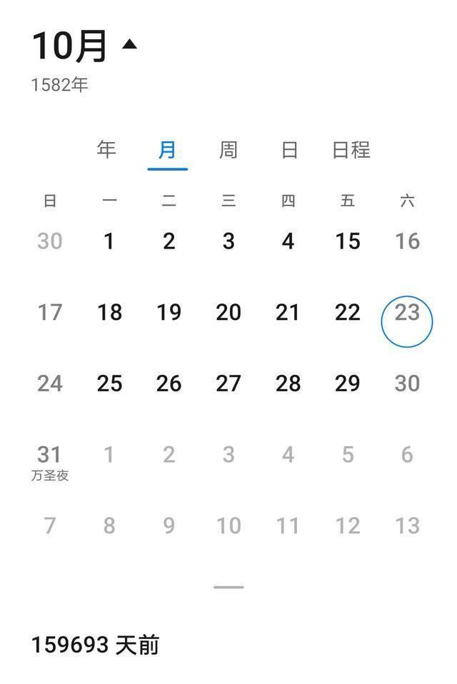 1582年10月的日历为什么少了十天,为何莫名其妙少了10天? 网络快讯 第1张
