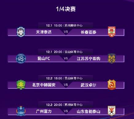 2020足协杯1/4决赛对阵出炉:武汉卓尔对阵北京国安!
