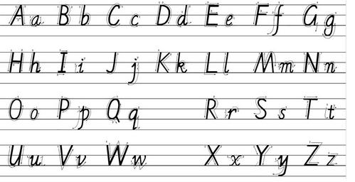26个字母大小写 正确26大小写字母表图片 26个拼音字母表 网络快讯 第1张