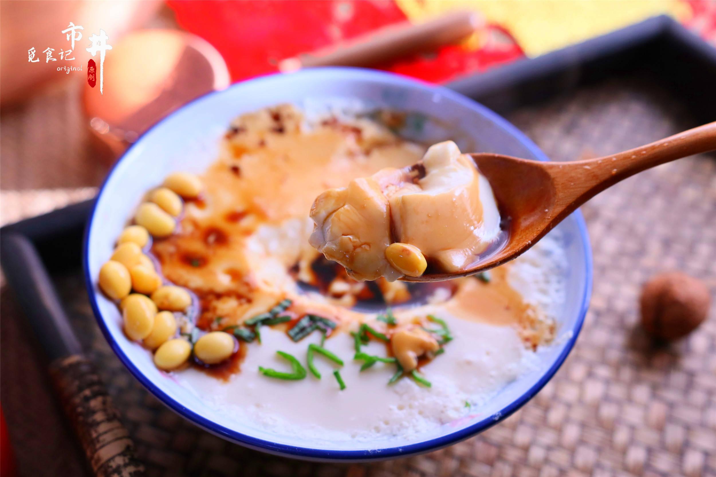 晚上泡1把黄豆,早起半小时,超简单做豆腐脑,不用上街买了