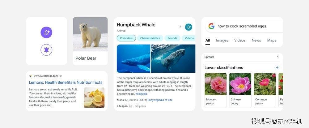 谷歌Google为移动搜索进行了全新的设计